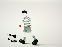 Fetch by Mackenzie Thorpe -  sized 38x25 inches. Available from Whitewall Galleries